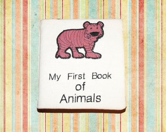"Handmade Toddlers Cloth Book – ""My First Book of Animals"""
