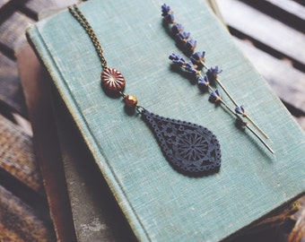 night garden. a boho, nature-inspired statement necklace
