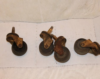 Set of 4 Vintage Jarvis and Jarvis Furniture Casters