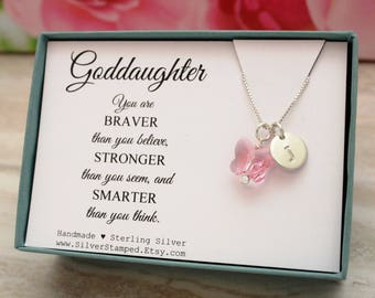 Goddaughter jewelry etsy negle Images