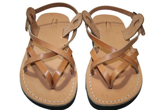 Leather Sandals Sandals Sandals Caramel Genuine Jesus amp; Sandals For Mix Men Women Handmade Flop Unisex Sandals Leather Flip 61wxq5wEn