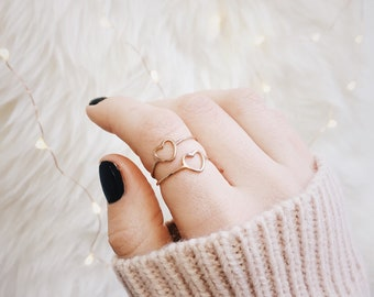 Heart Ring in Rose Gold | Delicate Ring Stainless Steel Jewellery