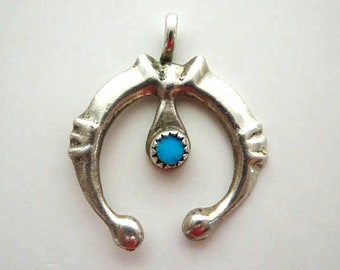Native American Naja Pendant with Turquoise Stone - FREE SHIPPING