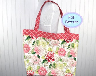 Extra Large Strong Tote Bag Pattern, Market Bag, Beach Bag, PDF Pattern, Instant Download