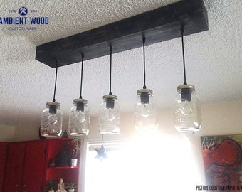 eclectic lighting. 5x Mason Jar Chandelier Light Vintage Industrial, Antique Edison Bulb, Lamp, Eclectic Lighting