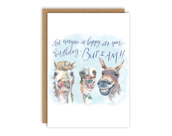 Horse birthday card etsy funny horses birthday card bookmarktalkfo Image collections