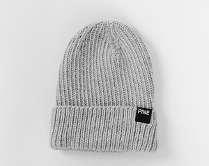 Grey Cozy-Knit Beanie// READY TO SHIP!