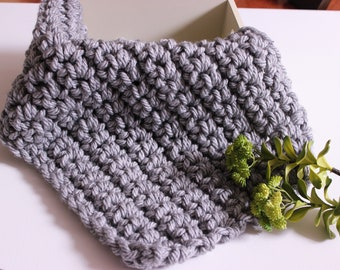 RTS Grey Mini Chunky Blanket