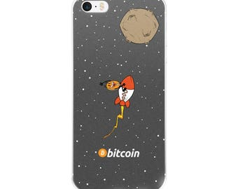 Bitcoin Rocket iPhone case 5/5s/Se, 6/6s, 6/6s/6 Plus 7/7 Plus 8/8 Plus, iPhone X