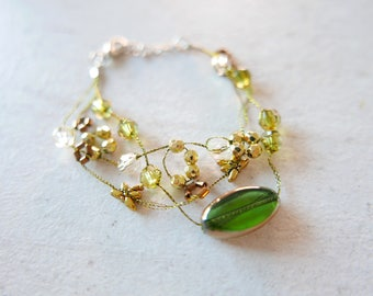 Bracelet Flowers glass