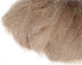 Rose Gray Alpaca Roving for Spinning and Felting, Huacaya and Suri - 2 ounces