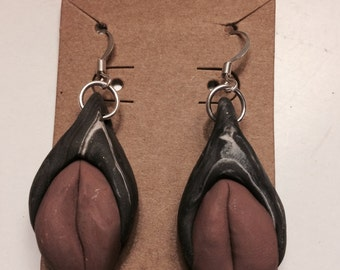 Vagina Earrings