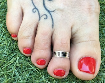 Sterling Silver Toe Ring, Adjustable Ring, Sterling Silver Jewelry, Toe Jewelry, Foot Jewelry.