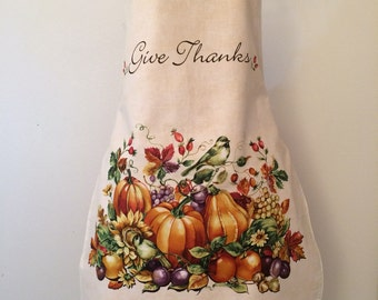 Give Thanks full apron  FREE SHIPPING !!