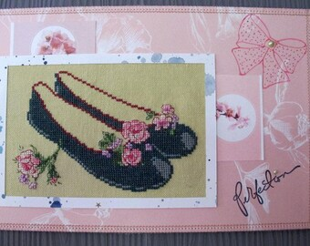 Embroidered ballerina painting