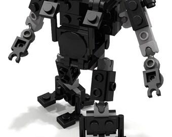Lego Black Customizable Exoframe / Robot / Figure  by BWTMT Brickworks