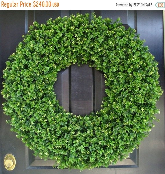 SUMMER WREATH SALE 28 Inch Xxl Artificial Boxwood Wreath, Oversized Wreath, Mantle Decor, Church Decor, Church Decoration, Wedding Wreath, S