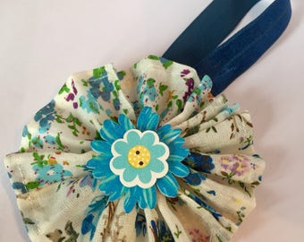 Floral book mark - page keeper - notebook - novel - planner accessory - diary - elastic - book worm gift - blue
