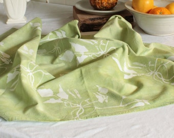 lime green bean vines floursack towel