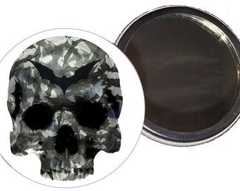 Bat Skull Compact Mirror
