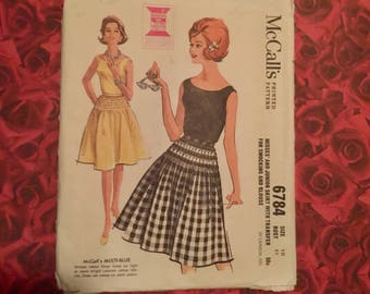 60's Vintage Skirt Sewing Pattern