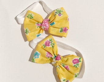 Spring yellow Bows