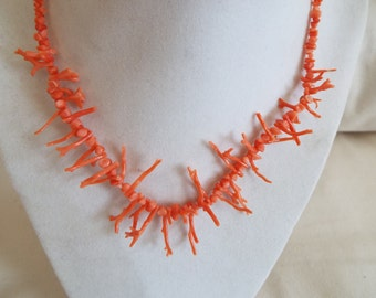 pink coral branches necklace chocker
