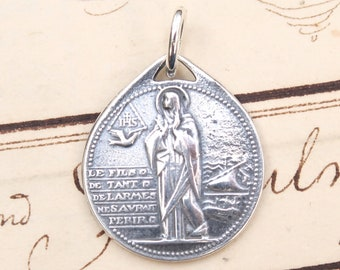 St Monica's Hope Medal - Patron mothers, alcoholics, students - hand cast vintage reproduction