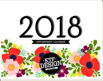 2018 Appointment Calendar - Floral