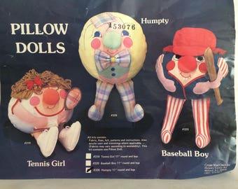 Vintage Humpty Dumpty Pillow Doll Kit
