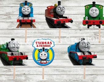 Thomas the Train/Thomas & Friends Die Cuts/Cut Outs Birthday Party Cupcake/Cake/Centerpiece Toppers/Birthday Decorations/Thomas Boy Birthday