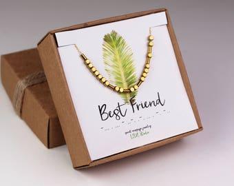 Best friend necklace, best friend gift, Morse code bracelet, best friend birthday gift, Morse code necklace, Morse code jewelry, bestie gift