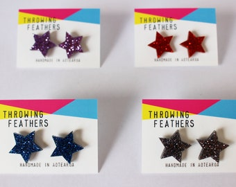 Large Frankie stud acrylic earrings - choose your colour