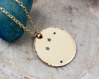 Aries constellation zodiac necklace. Gift for her. Gold zodiac constellation necklace. Aries necklace. Aries zodiac birthday gift. RTS