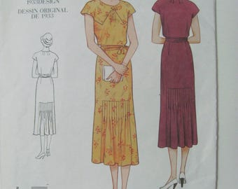 Vintage Vogue 2671 1933 Reprint Sewing Pattern Size 8-10-12 2002