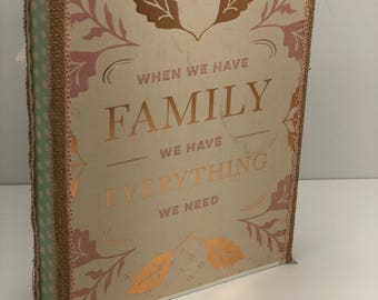 CUSTOM - family heritage traditions Mother's Day folio style mini album scrapbook