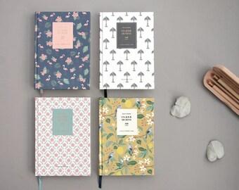 Hardcover Blank Notebook Ver.2 / Journal Notebook / Blank Journal / Bullet Journal / Spiral Notebook / School Notebook, Supplies