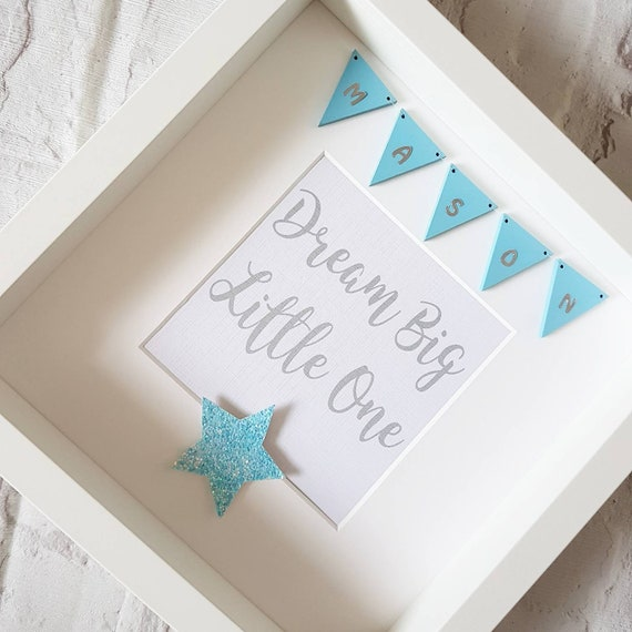 Personalised \'Dream Big Little One\' Frame ~ Gifts for boys ~ Home ...