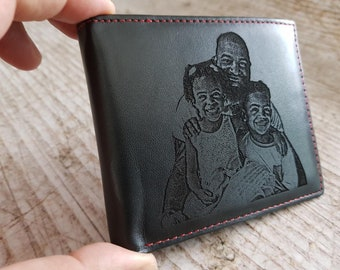 personalized wallet, photo wallet, personalized wallet for men, photo engraved wallet, mens wallet, fathers day wallet, fathers day gift