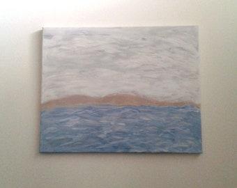 Landscape Canvas Painting Sea Original Artwork