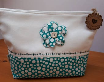 Knitting or crochet project bag/Toiletries bag