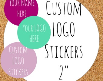 Custom  Stickers, Custom Labels, Product Labels Personalized stickers Personalized Labels custom circle stickers custom logo personalized 2""