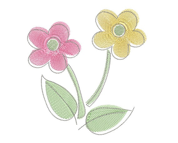 Pastel flower machine embroidery design fill stitch floral machine pastel flower machine embroidery design fill stitch floral machine embroidery design pretty flower 3 sizes instant download no s519 1 from mightylinksfo