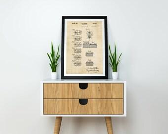 Dominoes Patent Print / Dominoes Gifts / Dominoes Print / Game Art / Gambling Gifts / Dominoes Poster / Game Room Decor / Game Room Wall Art
