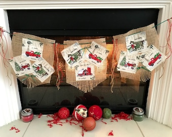 Christmas Banner Vehicle Bunting Automobile Garland  Christmas Bunting Holiday Banner Christmas Bunting  Winter Banner Xmas Banner