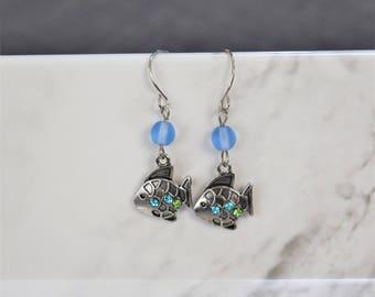 Silver Scales Earrings