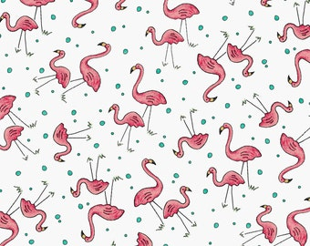 Mini Flamingos Roam Sweet Home By Maywood Studio