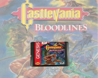 Castlevania Bloodlines fan made reproduction Sega Genesis / Mega Drive