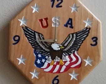 Oak USA wall clock