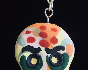 Sugar Skull Necklace Keychain